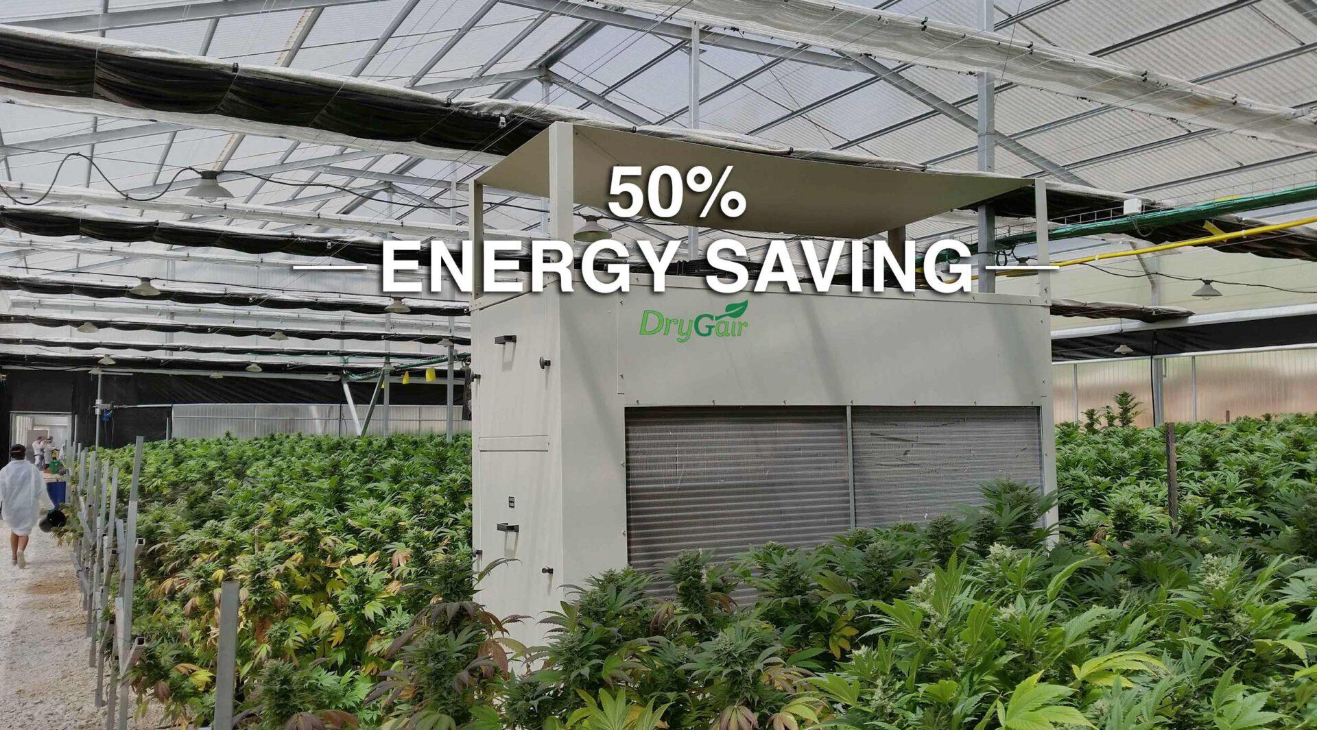 greenhouse dehumidifier 50% energy saving