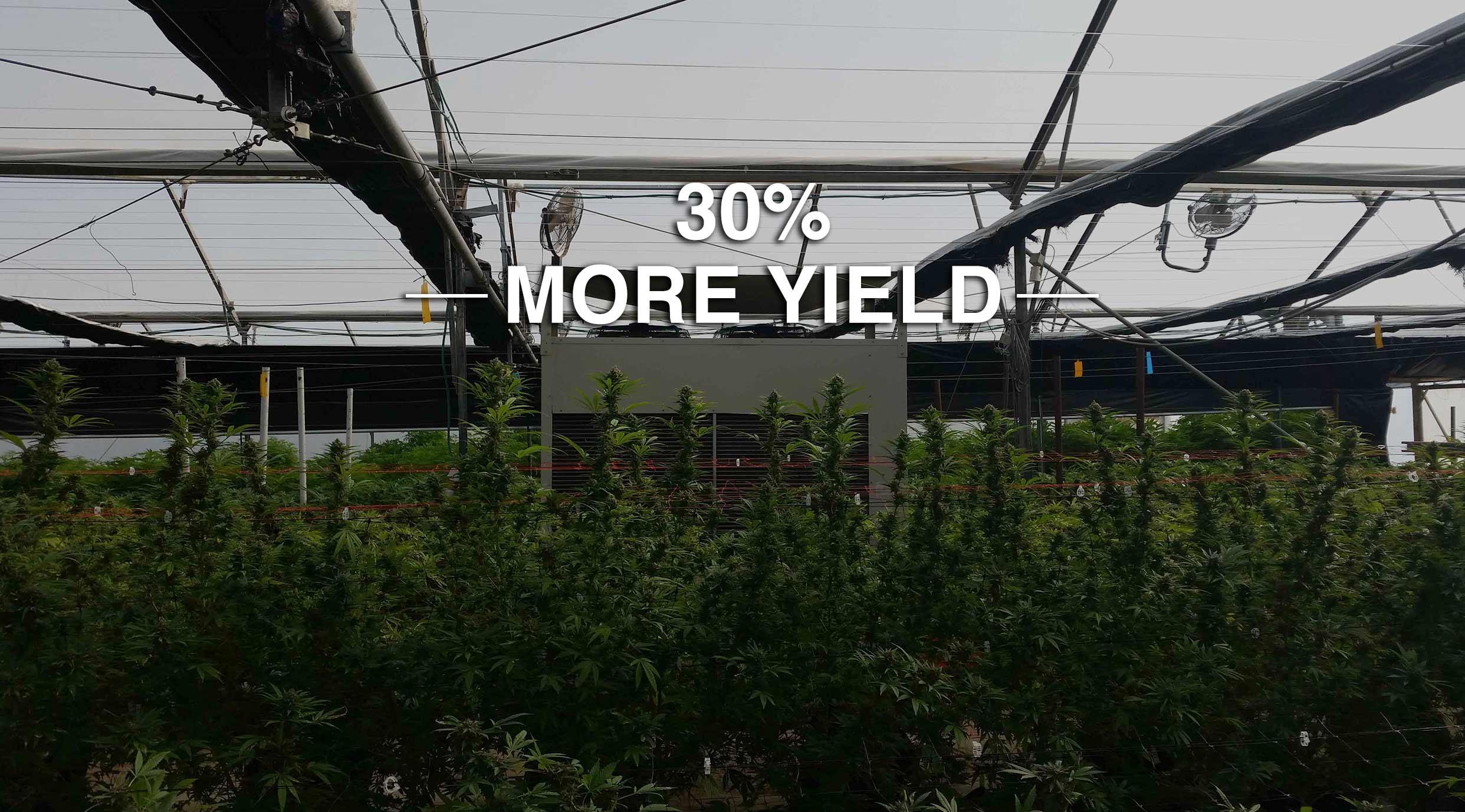 Drygair greenhouse dehumidifier 30% more yield
