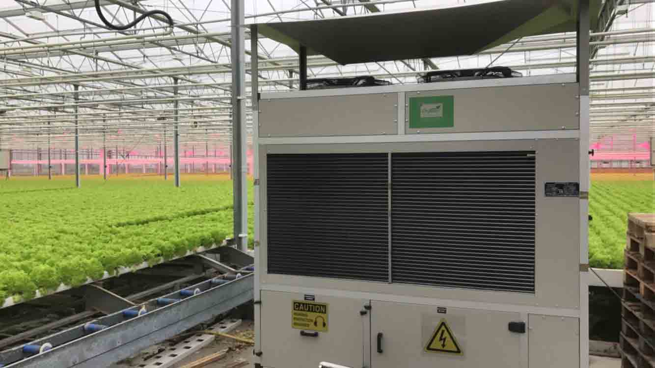 large scale dehumidification in a greenhouse