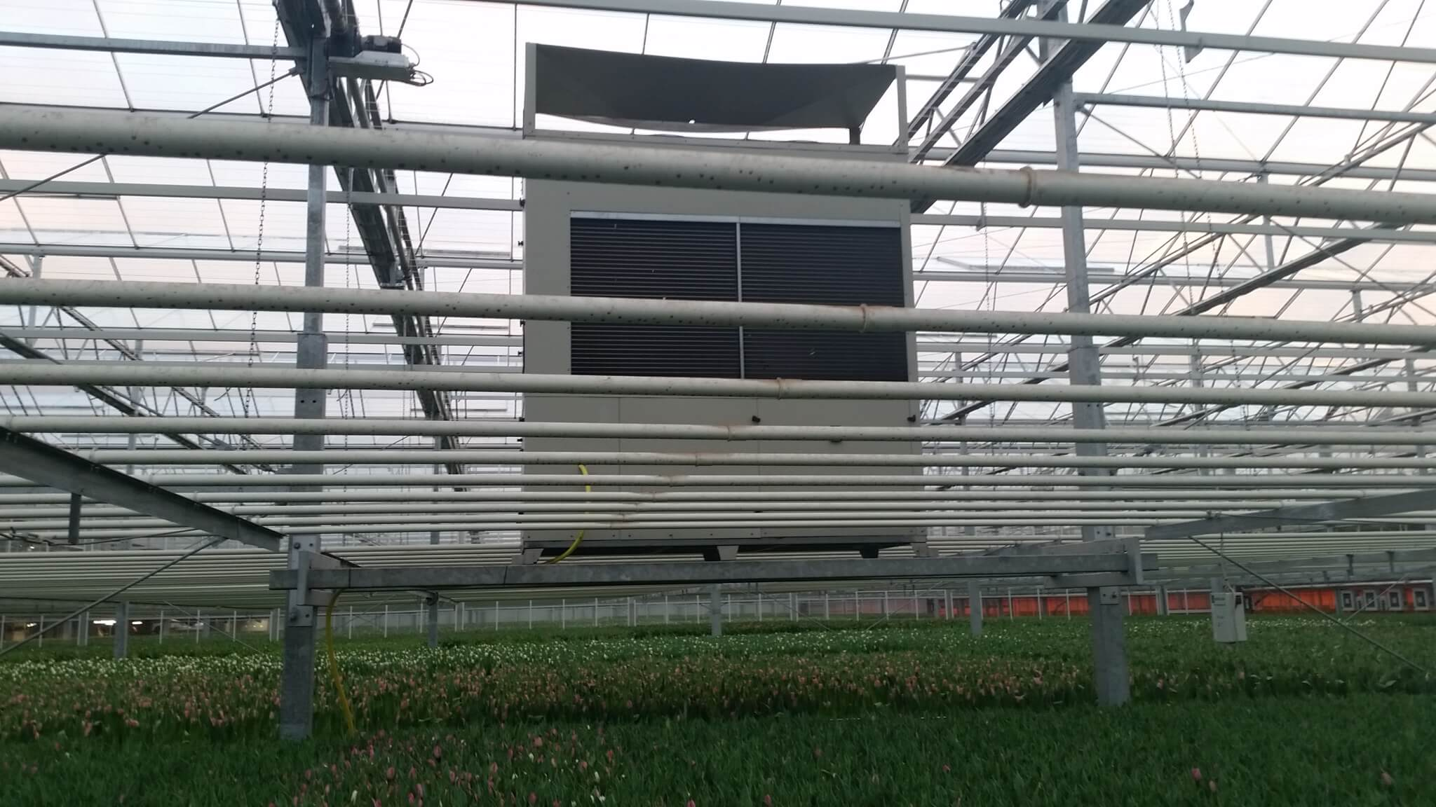 Installed above the crop