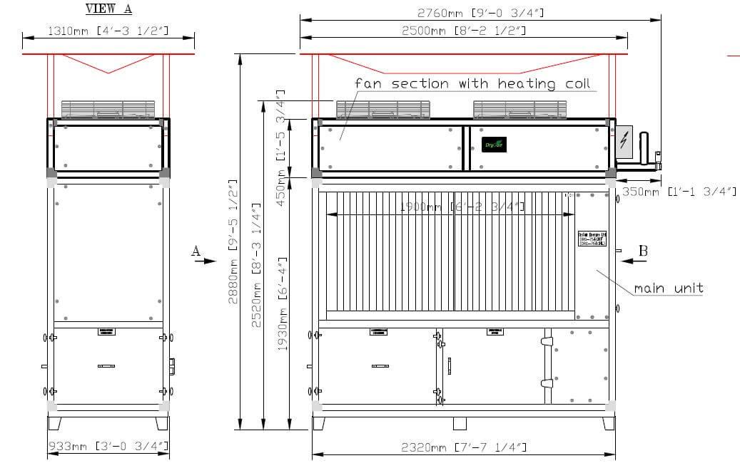 DG 12 Dimensiones de Calefacción & Refrigeración
