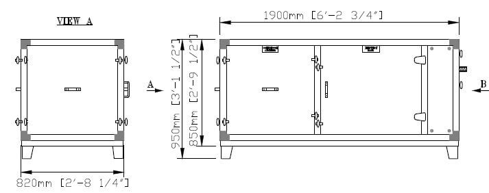 DG 6 EU Split Lower Part Dimensions