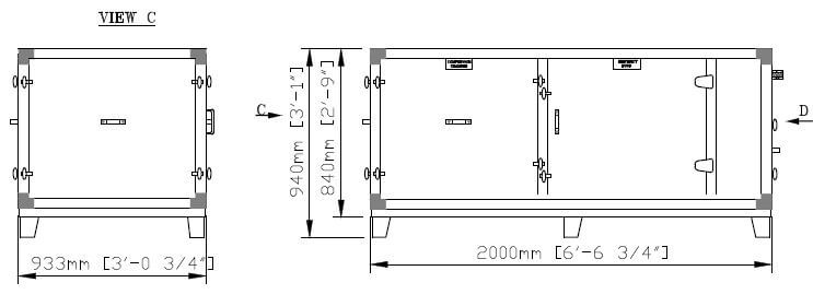 DG 12 EU Split Lower Part Dimensions