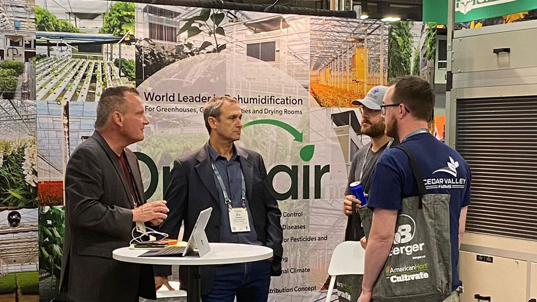 DryGair's Ziv Shaked and Steve Millett at the booth